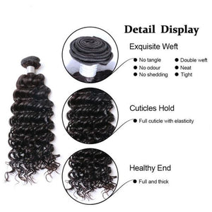 LONDON VIRGIN HAIR Luxury Deep Wave Bundle