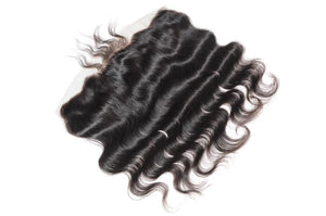 LONDON VIRGIN HAIR Luxury Transparent Lace Free Part Frontal 13X4