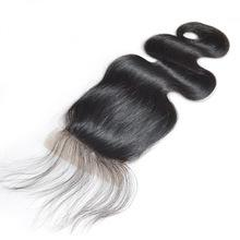 Load image into Gallery viewer, LONDON VIRGIN HAIR Luxury Transparent Lace Free Part Closure