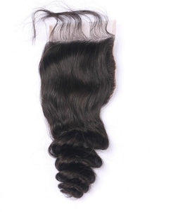 LONDON VIRGIN HAIR Luxury Transparent Lace Free Part Closure