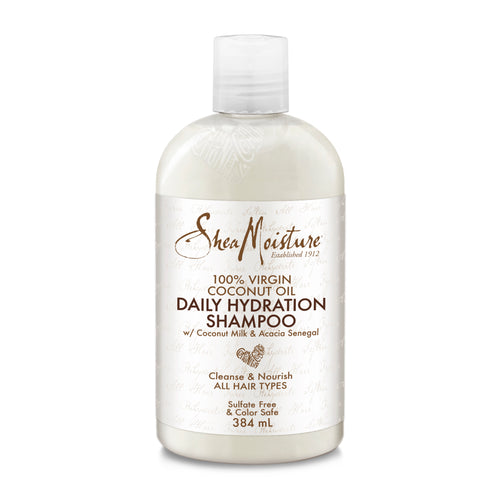 SHEA MOISTURE 100% Virgin Coconut Oil Daily Hydration Shampoo Product Bottle