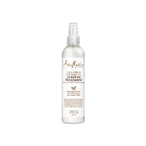 SHEA MOISTURE 100% Virgin Coconut Oil Leave-In Treatment Product Bottle