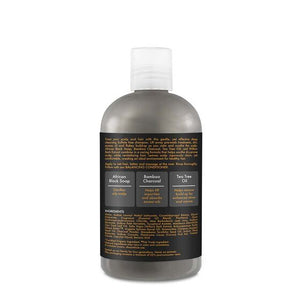 SHEA MOISTURE African Black Soap Bamboo Charcoal Deep Cleansing Shampoo Product Bottle