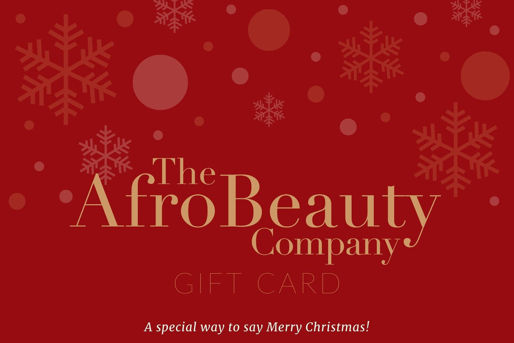 The Afro Beauty Company Christmas Gift Card