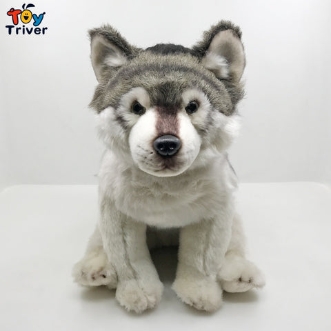 Lifelike Husky Plush Toy