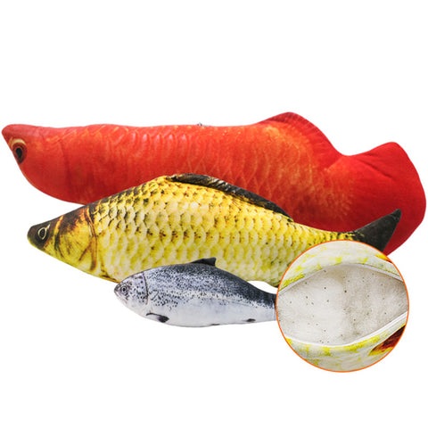 Soft Plush 3D Fish Cat Toy