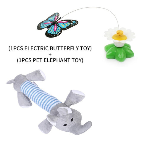 Electric Rotating Colorful Butterfly Cat Toy