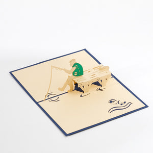 Fisherman Pop up Card