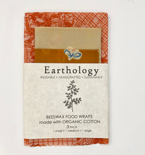 Load image into Gallery viewer, Organic Beeswax Food wraps 3 pack