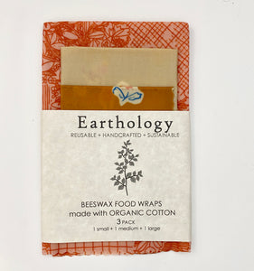 Organic Beeswax Food wraps 3 pack