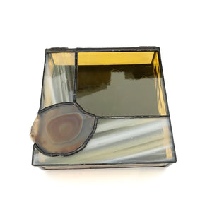 Geometric Agate Glass Box