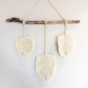 Macrame Feather - White