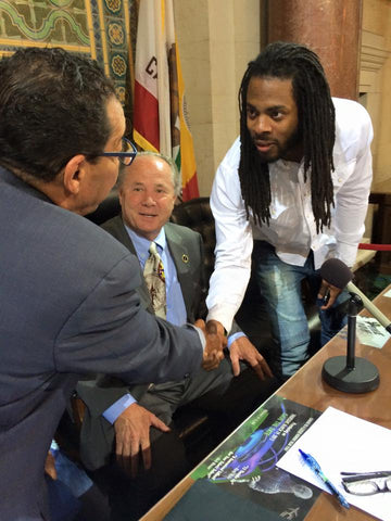 Richard Sherman Kevin Sherman Los Angeles Sanitation Award
