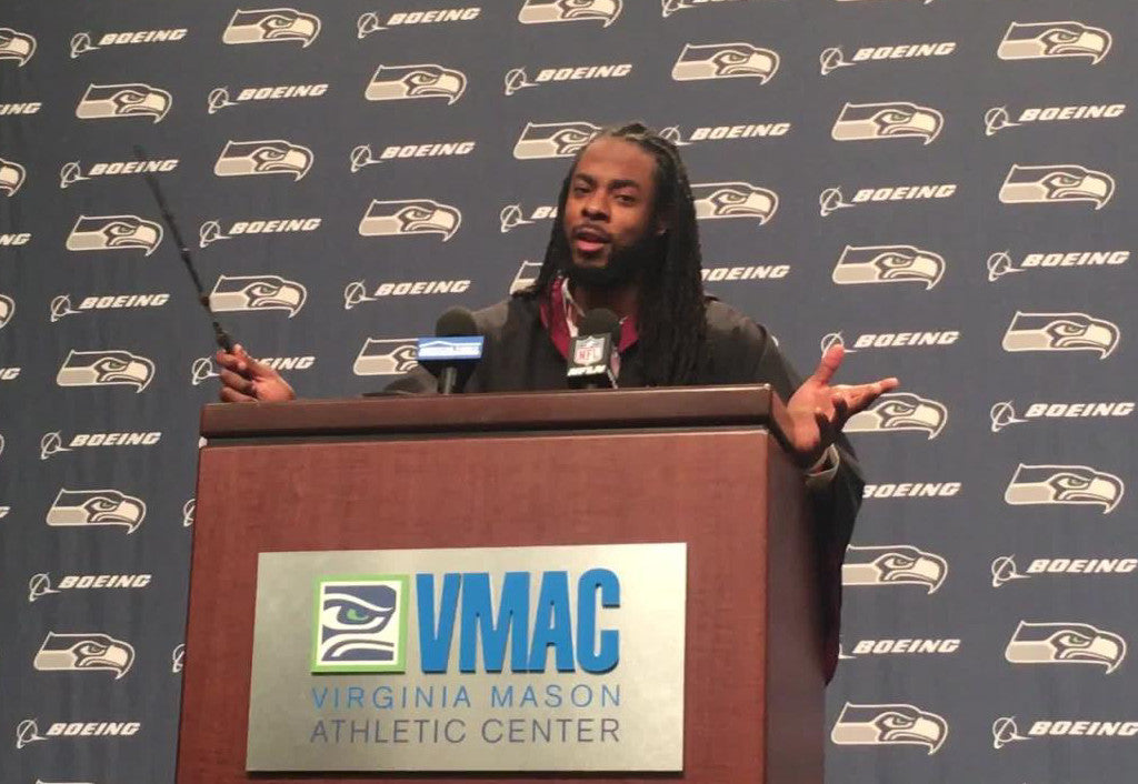 Richard Sherman does entire press conference wearing a Harry Potter costume | Richard Sherman