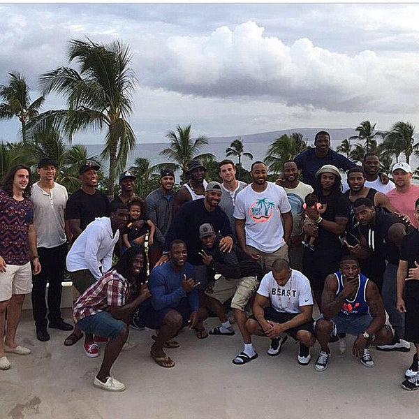 Richard Sherman Seattle Seahawks and Teammates training in Hawaii