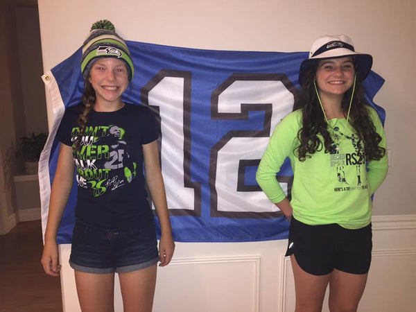Fans in Official Richard Sherman Gear