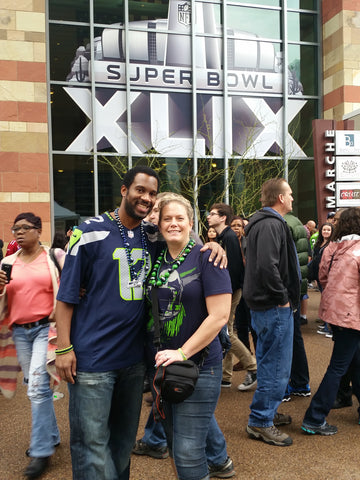 Richard Sherman Seattle Seahawks Super Bowl 49 Experience Winner Angela Marshall