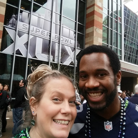 Richard Sherman Seattle Seahawks Super Bowl Experience Winner Angela and husband