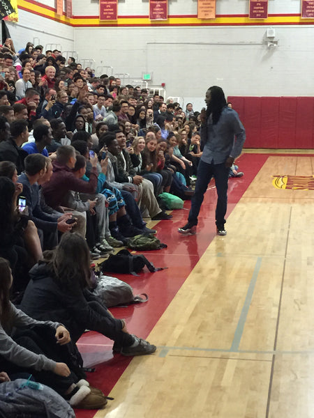 Richard Sherman Talking to Students of Jefferson High School