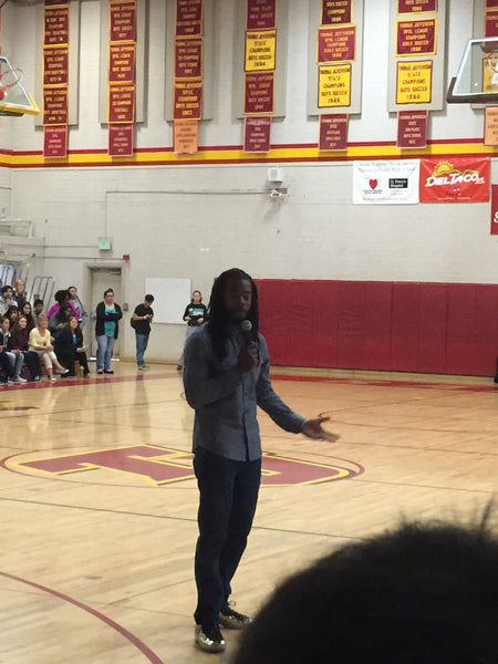 Richard Sherman giving students Advice