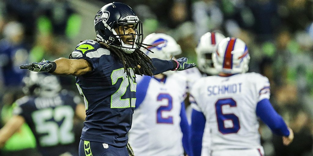 Richard Sherman says he didn't do anything wrong diving into Bills kicker | Richard Sherman