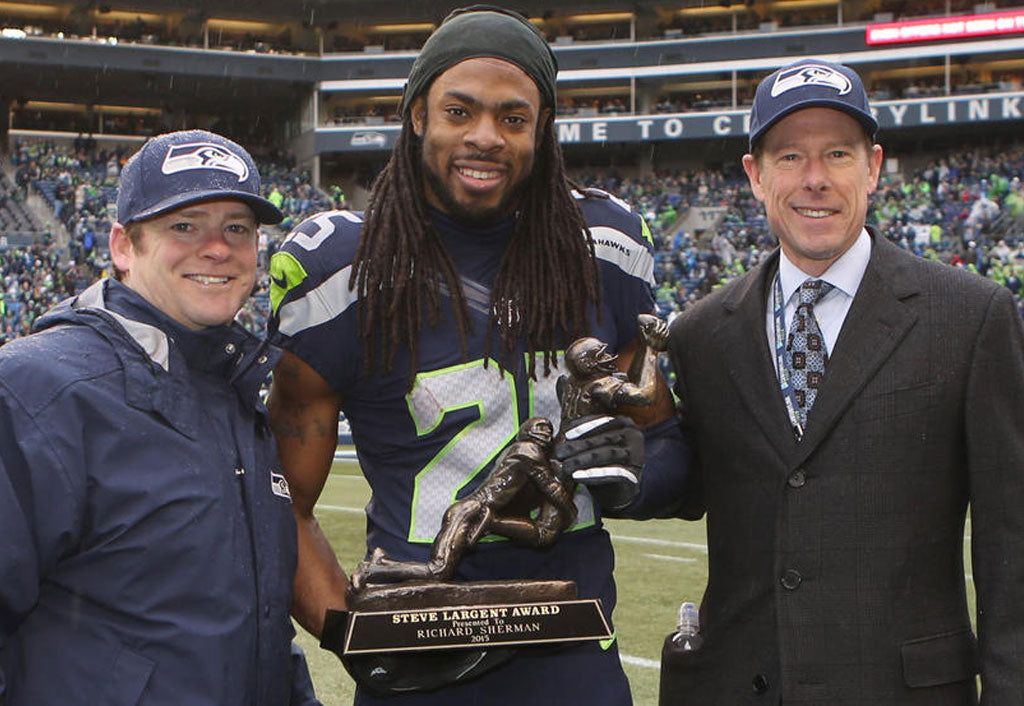 Seattle Seahawks Cornerback Richard Sherman Named Steve Largent Award Winner | Richard Sherman