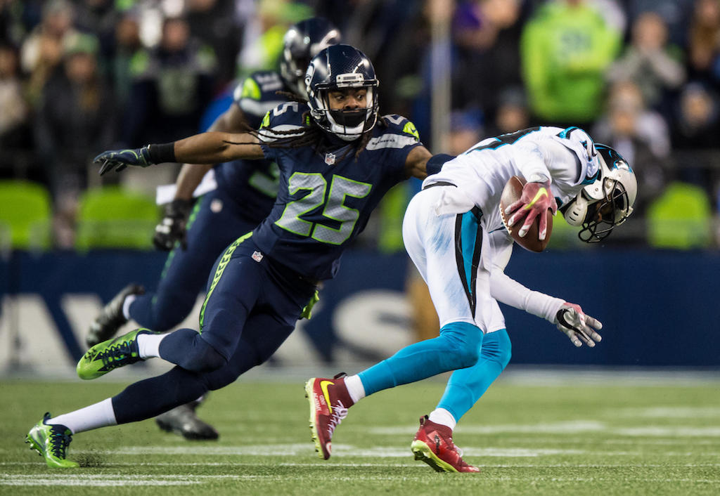 Seattle Seahawks rout Carolina Panthers on 'Sunday Night Football' | Richard Sherman
