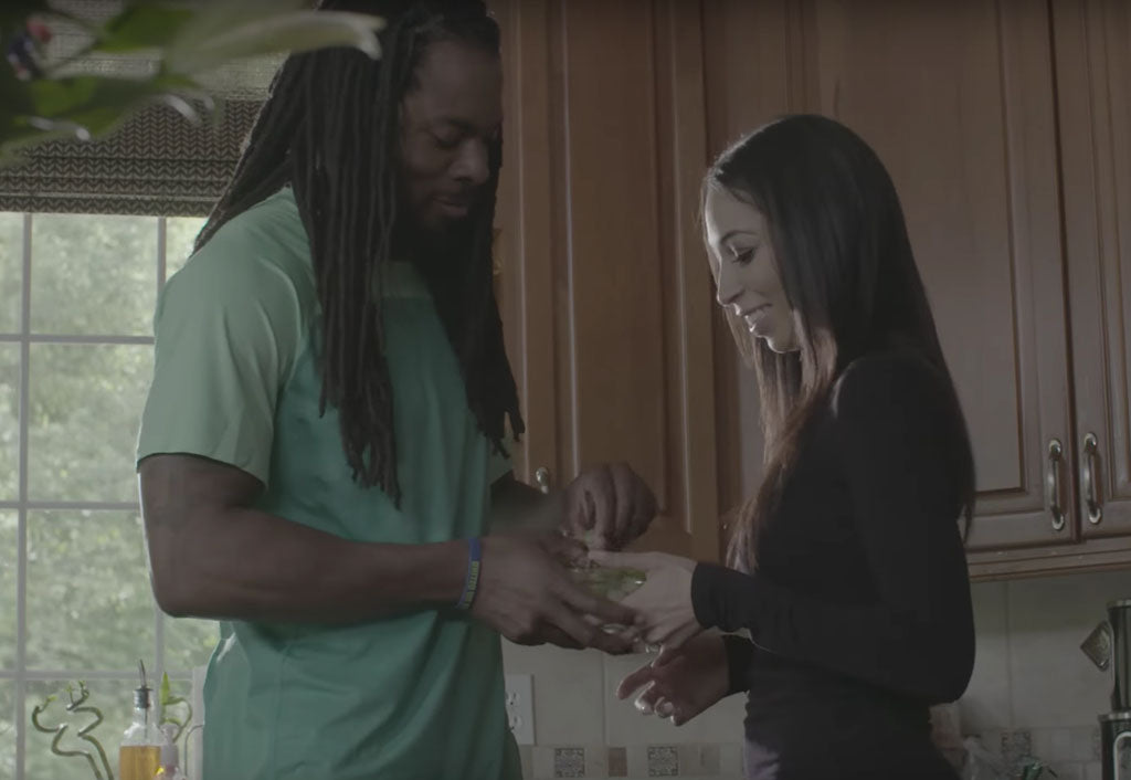 Richard Sherman Creates Grape Toss Challenge | Richard Sherman