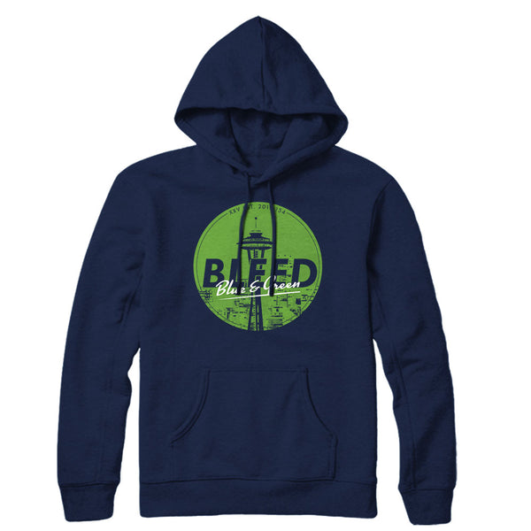Bleed Blue and Green Hoodie