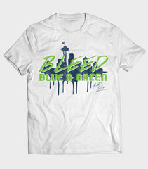 Bleed Blue & Green Men's T-Shirt | Richard Sherman