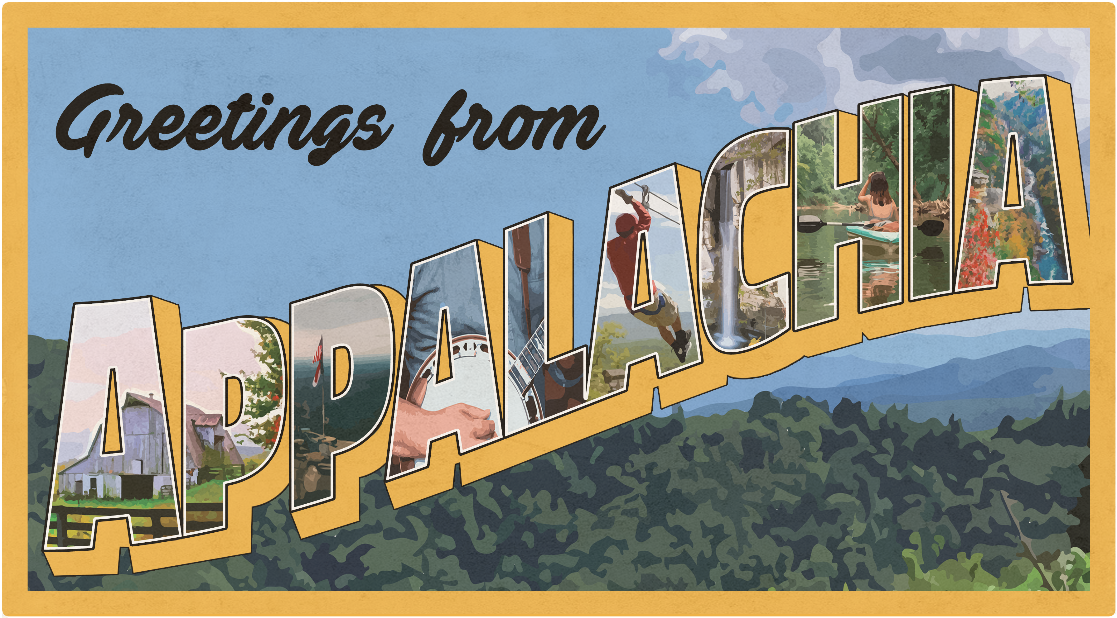 "Greetings from Appalachia ""Postcard"" Design"