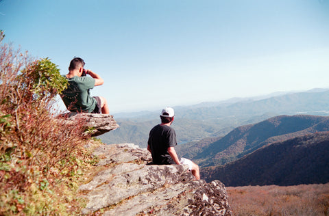 Taking pictures at Craggy Pinnacle, NC