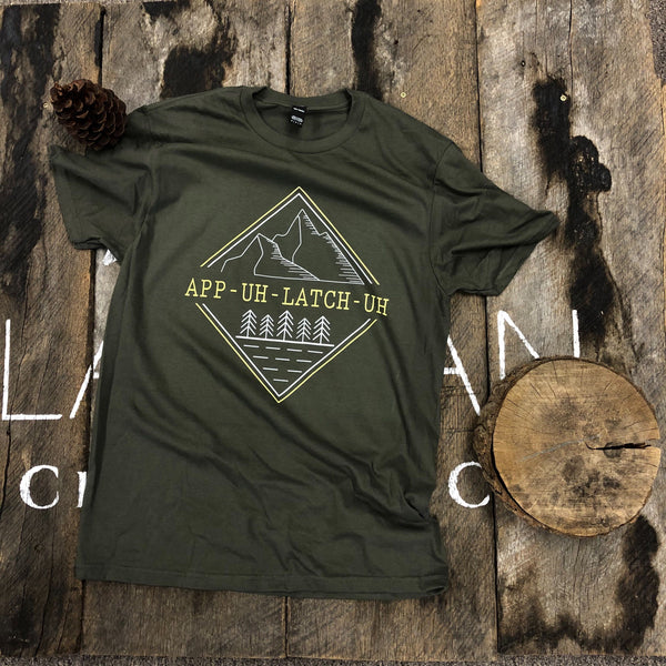 Appalachia pronunciation t-shirt lifestyle picture