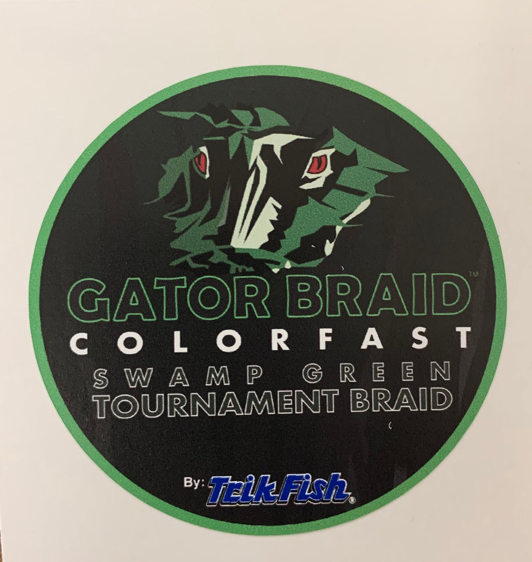 Gator Braid - Sticker (3in. x 3in.)