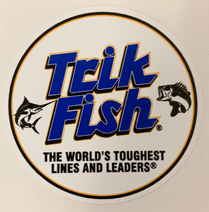 Trik Fish - Logo Sticker (3in. x 3in.)