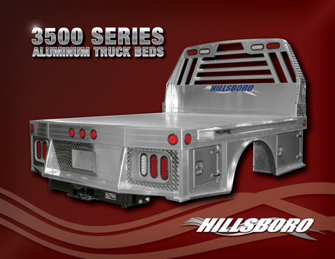 Hillsboro 3500 Series Aluminum Truck Bed-Dually/Long Bed (Ford or GM)
