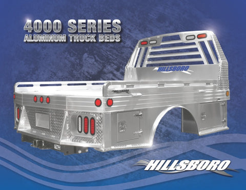 Hillsboro 4000 Series Aluminum Truck Bed-Single Wheel/Long Bed (Ford or GM)