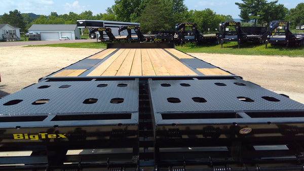 2019 Big Tex 14PH 25ft Pintle Hook with Mega Ramps