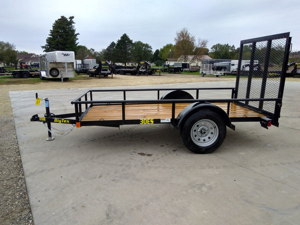 2020 Big Tex 30ES 5 x 8 Ramp Gate Utility Trailer-Unit 57111