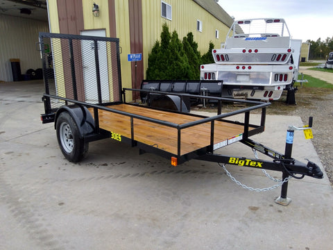 2020 Big Tex 30ES 5 x 10 Ramp Gate Utility Trailer- Unit 47149