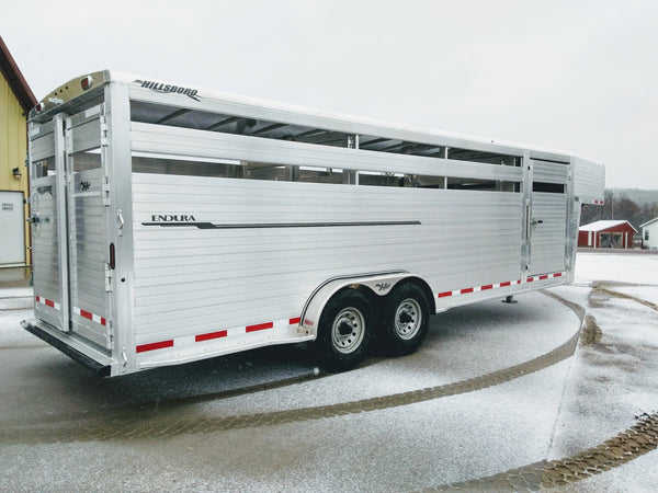 2019  Hillsboro 7X24 Livestock Trailer with Front Rolling Gate-Unit 29393