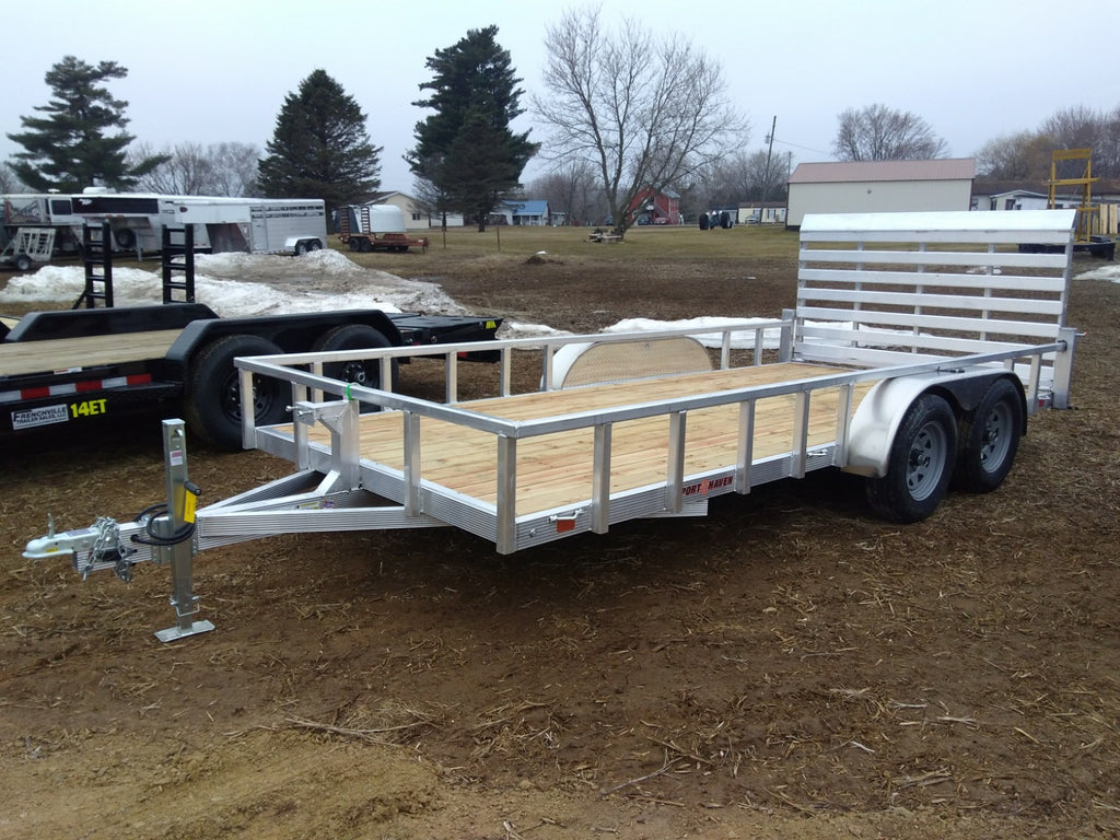 2019 Sport Haven 7x16 Tandem Aluminum Utility Trailer-Unit 08394
