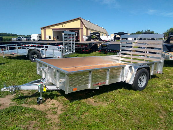 2020 Sport Haven 6 x 12 Aluminum Utility Trailer with Tread Plate Sides-Unit 09988
