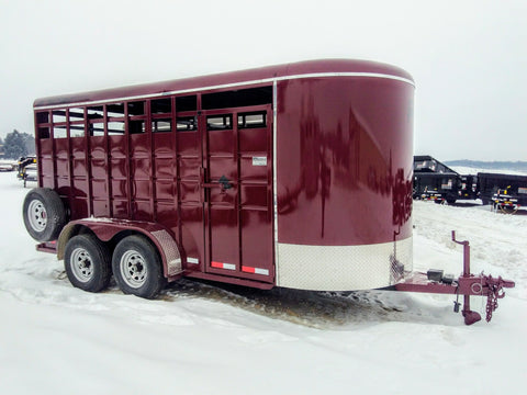 2020 S & S Trailers 16' Livestock Trailer - Bull Package -Unit 21018