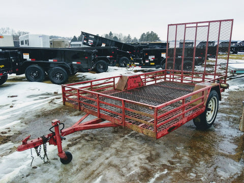 Steel 5 x 10 Utility Trailer with ATV Side Load Option- Unit 22119