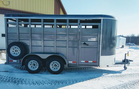 2021 S & S Trailers 16' Livestock Trailer - Wide Option