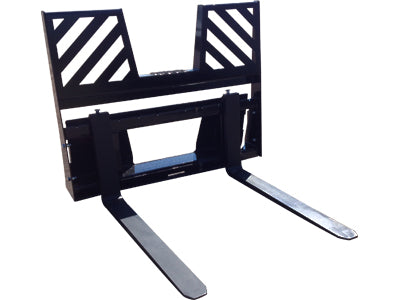 Midsota 48'' Pallet Fork attachment with Walk-Thru Support Rack