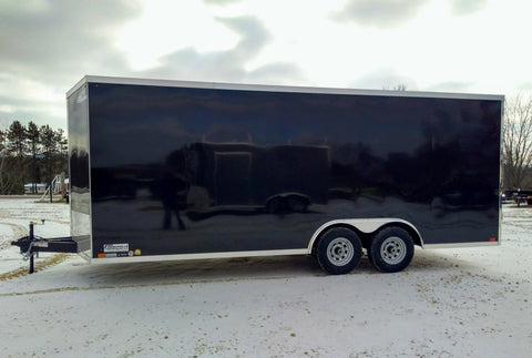 2000 Barron Manufacturing 2 Place Open Snow Trailer