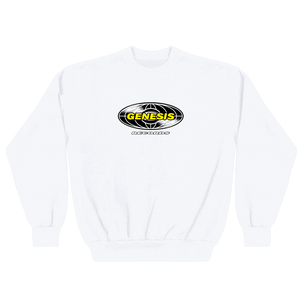 RECORD SWEATER WHITE