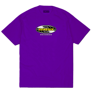 RECORD TEE PURPLE